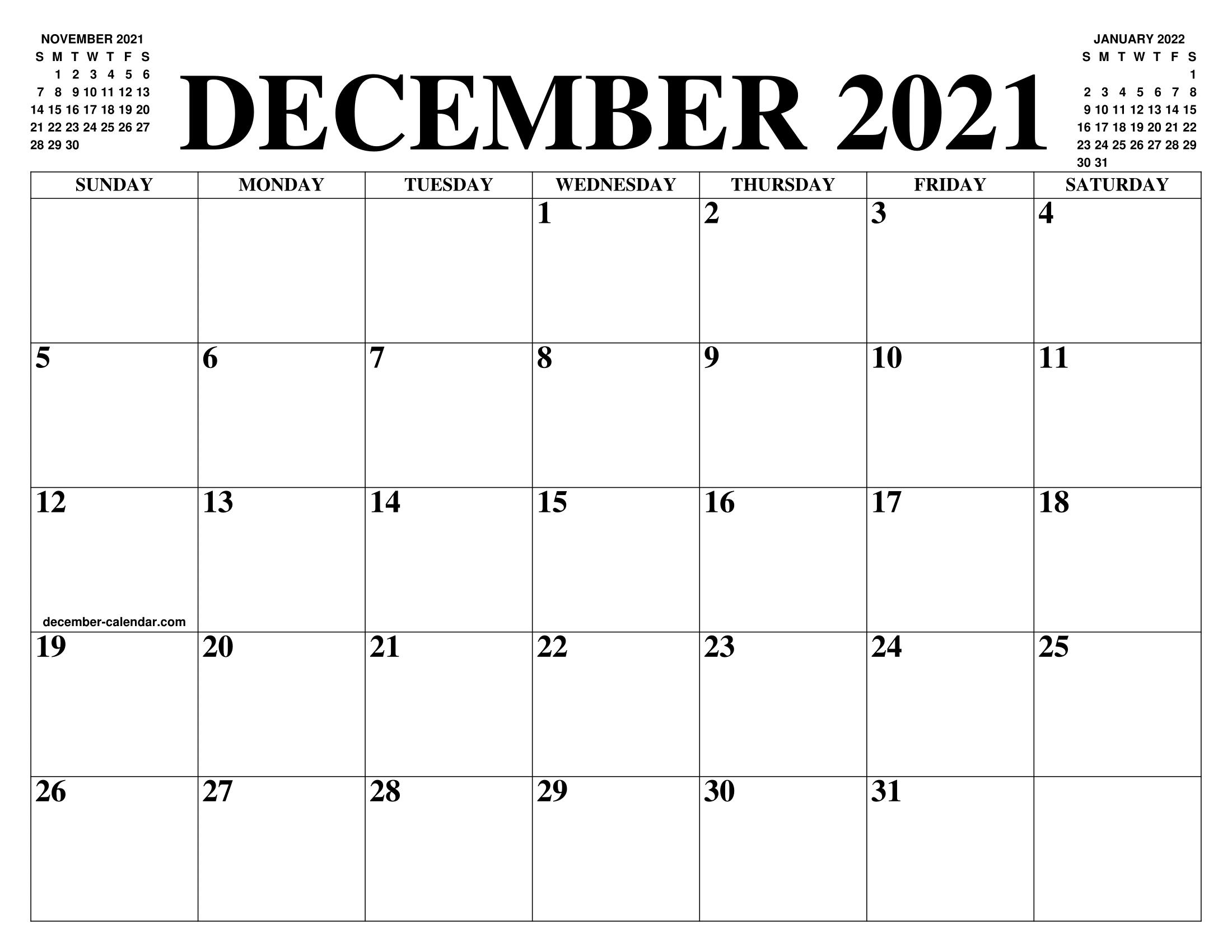 November December 2022 Calendar.December 2021 Calendar Of The Month Free Printable December 2021 Calendar Of The Year Agenda